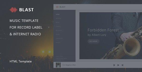 Record Label Web Template Fresh Blast – Music Template for Record Label & Internet Radio
