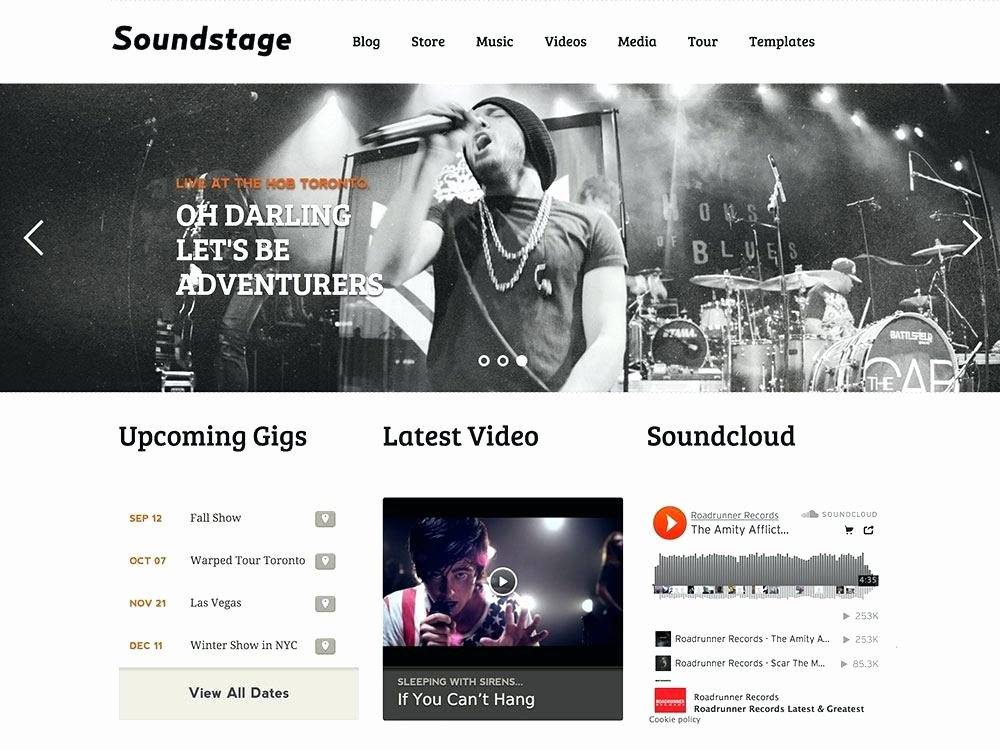 Record Label Web Template Lovely Website Template Record Label Free Music Templates – Meicys