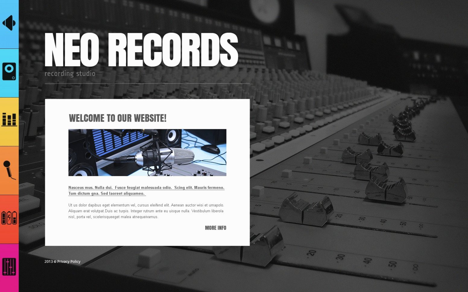 Record Label Web Template Unique is Record Label Template