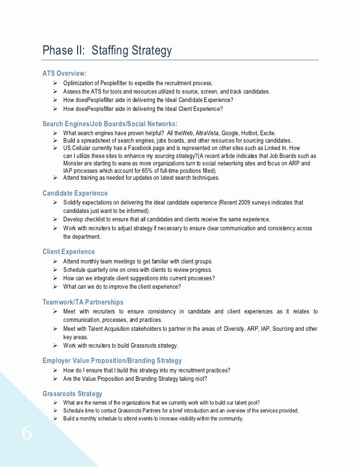 Recruiting Strategic Plan Template Beautiful 90 Day Plan
