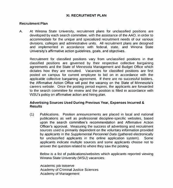 Recruiting Strategic Plan Template Beautiful Free Download Example format Recruitment Strategy Plan Doc