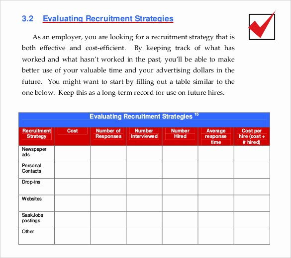 Recruiting Strategic Plan Template Inspirational 15 Recruitment Strategy Templates Docs Pdf Word