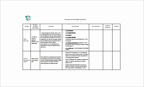 Recruiting Strategic Plan Template Unique 22 Strategic Plan Templates Free Word Pdf format