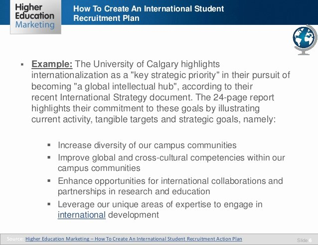 Recruitment Action Plan Template Beautiful How to Create An International Student Recruitment Plan