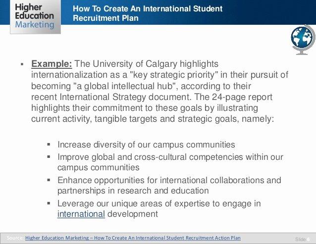 Recruitment Action Plan Template Beautiful How to Create An International Student Recruitment Plan