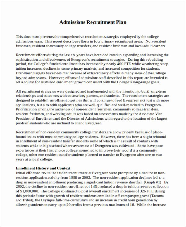 Recruitment Action Plan Template Beautiful Recruitment Plan Templates 9 Free Word Pdf format