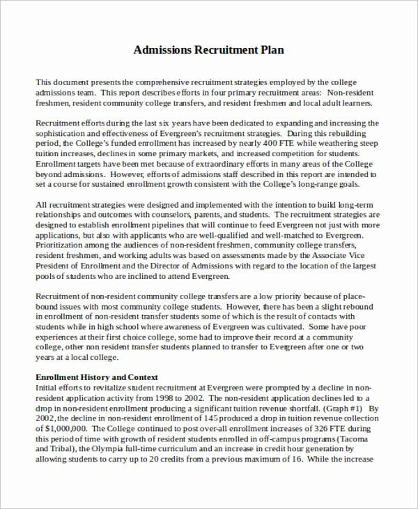 Recruitment Action Plan Template Beautiful Recruitment Plan Templates 9 Free Word Pdf format