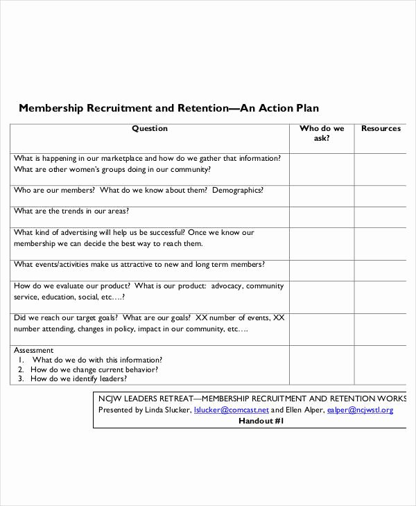Recruitment Action Plan Template Fresh 54 Action Plan Examples Pdf Word