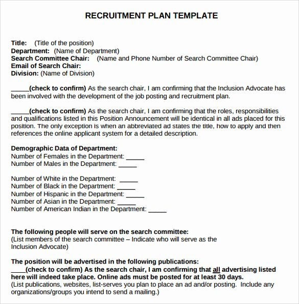 Recruitment Action Plan Template Luxury 8 Recruitment Plan Templates Download for Free