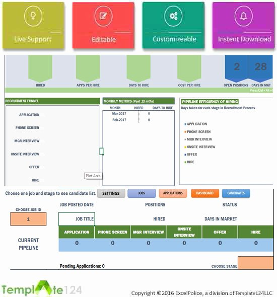 Recruitment Dashboard Excel Template Luxury Recruitment Manager Excel Template Dashboard Tracking