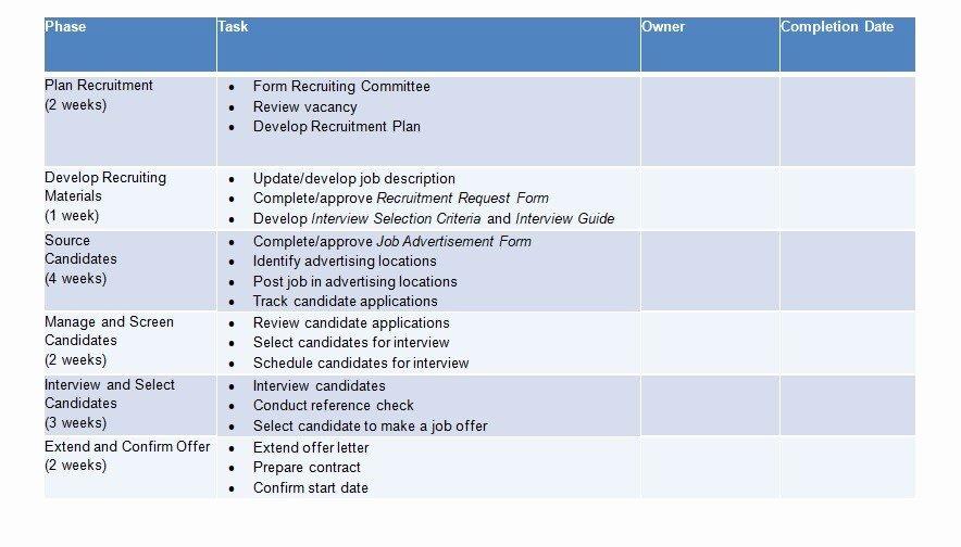 Recruitment Strategic Plan Template Best Of 10 Recruitment Strategic Plan Examples Pdf