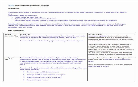 Recruitment Strategic Plan Template Unique Recruitment Strategy Template – 13 Free Word Pdf
