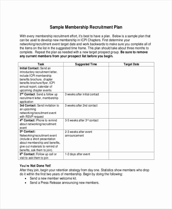 Recruitment Strategy Plan Template New Recruitment Plan Templates 9 Free Word Pdf format