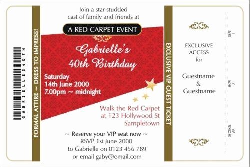 Red Carpet Invitation Template Awesome Diy Red Carpet Invitations