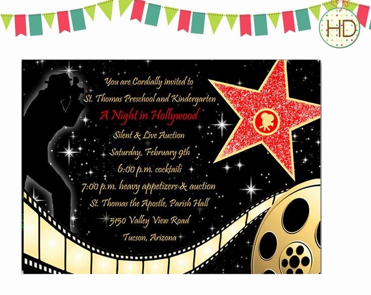 Red Carpet Invitation Template Beautiful Best 25 Hollywood Invitations Ideas On Pinterest