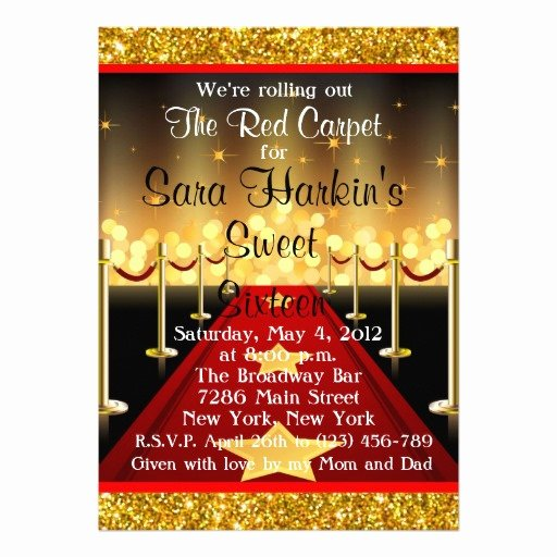 Red Carpet Invitation Template Beautiful Free Royal Red Carpet Birthday Party Invitations Template