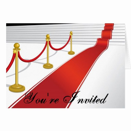 Red Carpet Invitation Template Best Of Red Carpet Invitation Card