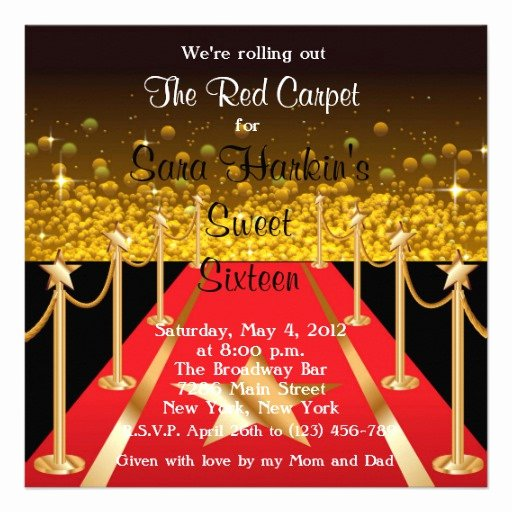 Red Carpet Invitation Template Best Of Red Carpet Thank You Cards Red Carpet Thank You Card
