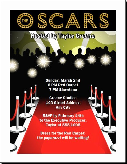 Red Carpet Invitation Template Elegant 5 Best Of Oscar Party Ticket Vip Template Red