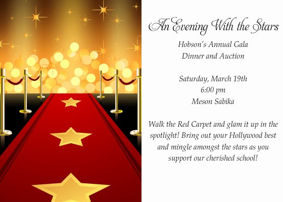 Red Carpet Invitation Template Fresh Hollywood Red Carpet Invitation Template