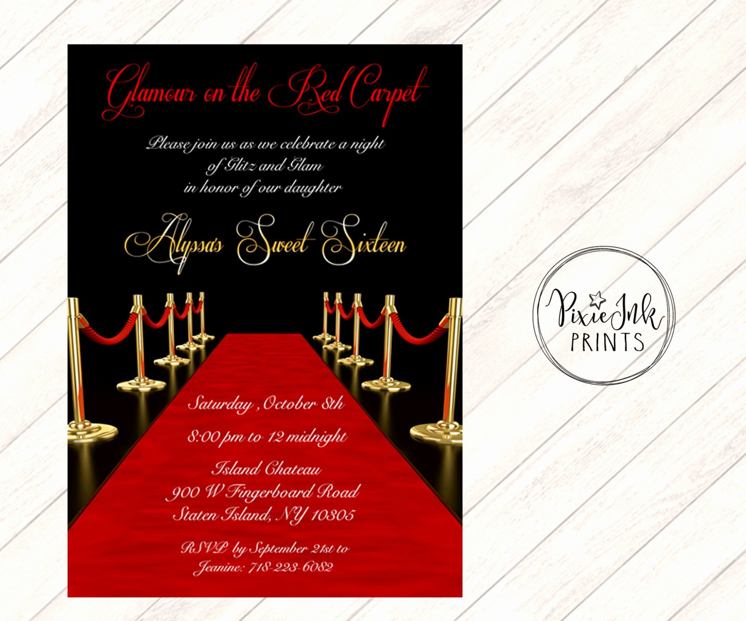 Red Carpet Invitation Template Fresh Red Carpet Gala Invitation Red Carpet Affair Invitation