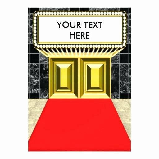 Red Carpet Invitation Template Inspirational Blank Red Carpet Invitations and Red Carpet for Prepare
