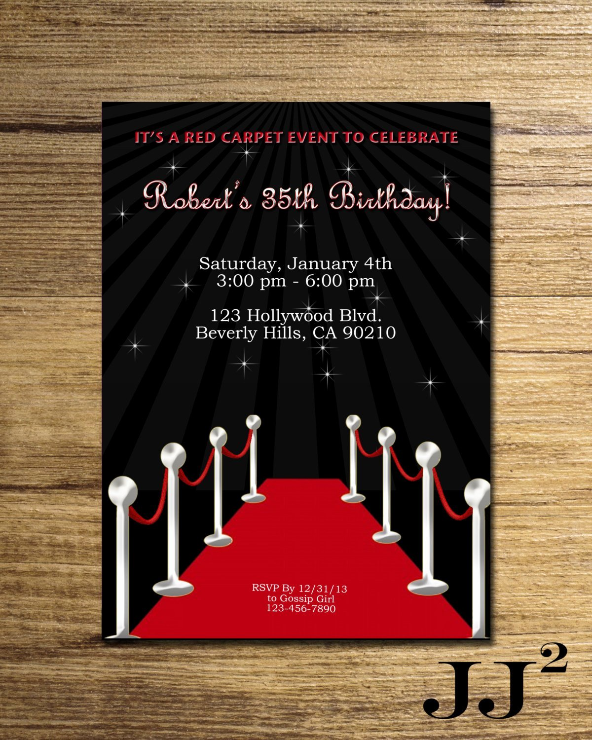 Red Carpet Invitation Template Luxury Red Carpet Birthday Party Invitation Glam Hollywood