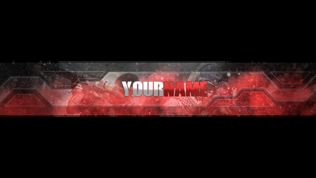 Red Youtube Banner Template Best Of Bannertemplate