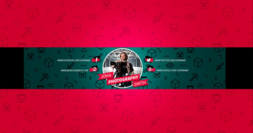 Red Youtube Banner Template Elegant 41 Creative Banner Templates
