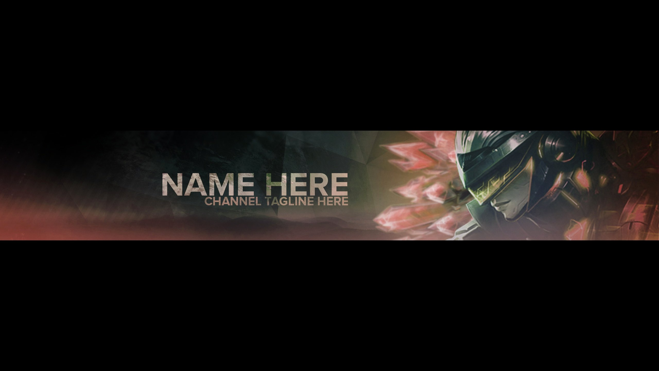 Red Youtube Banner Template Elegant Banner Template League Of Legends