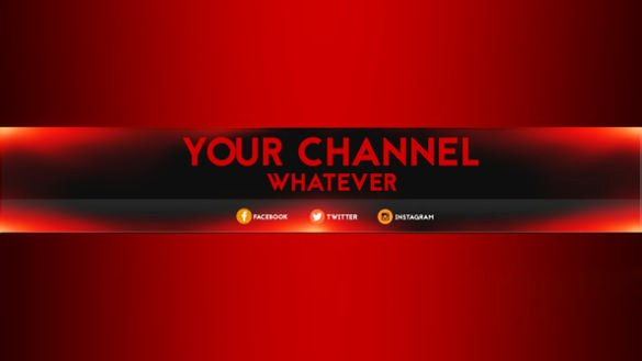 Red Youtube Banner Template Fresh 7 Free Banner Template Psd Ai Vector Eps