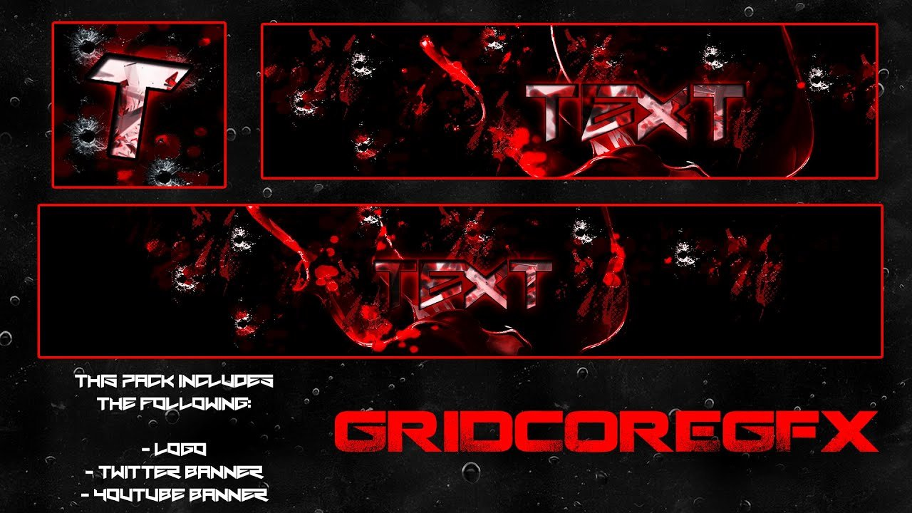 "Red Youtube Banner Template Inspirational ""blood Red"" Free Gfx Logo Twitter Banner"