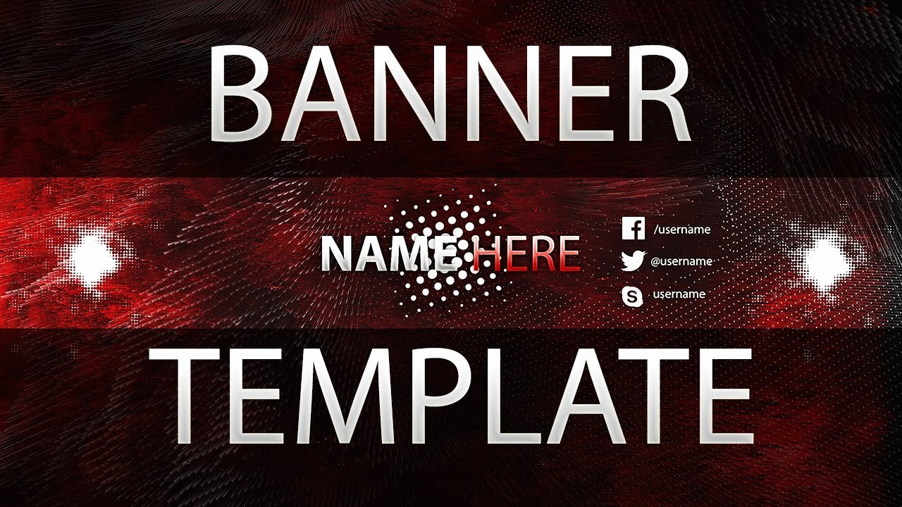 Red Youtube Banner Template Lovely Free Clean Red Youtube Banner Template 4 Tutorial How