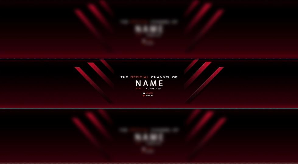 Red Youtube Banner Template Luxury Red Free Youtube Banner Templates