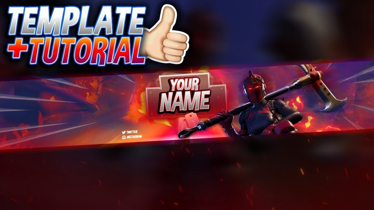 Red Youtube Banner Template New Free Red Knight Banner Template