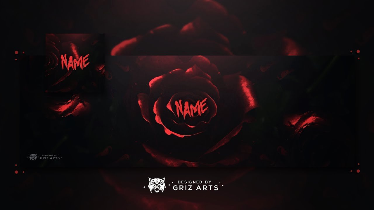 Red Youtube Banner Template New Free Youtube Revamp Template 2017 Dark Floral themed