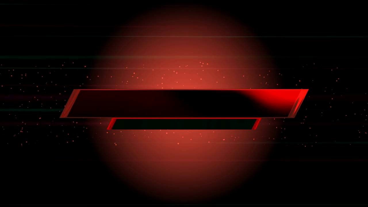 Red Youtube Banner Template Unique 4k Dark Red Title Wel E Text Intro Hot Animation