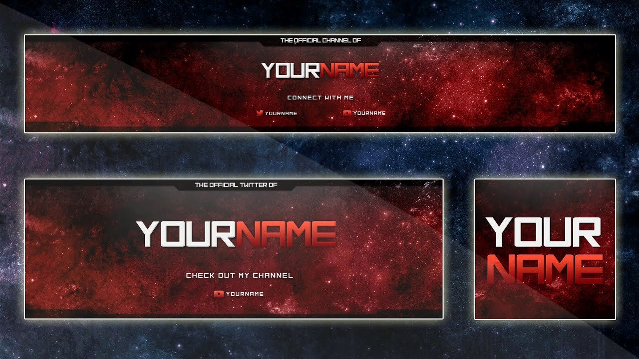 Red Youtube Banner Template Unique Best Banner Template 2015