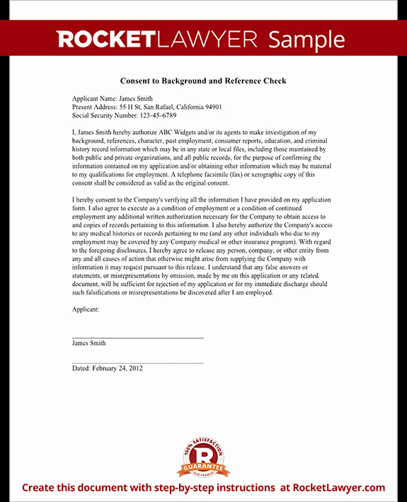 Reference Check form Template Best Of Background Check Authorization form Template with Sample