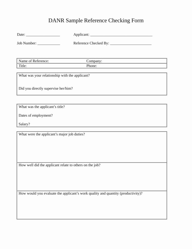 Reference Check form Template Luxury 12 Reference Checking forms & Templates Pdf Doc