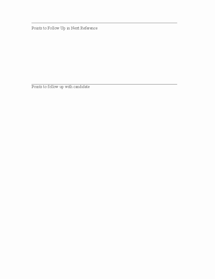 Reference Check form Template New Employment Reference Check Template Free Download