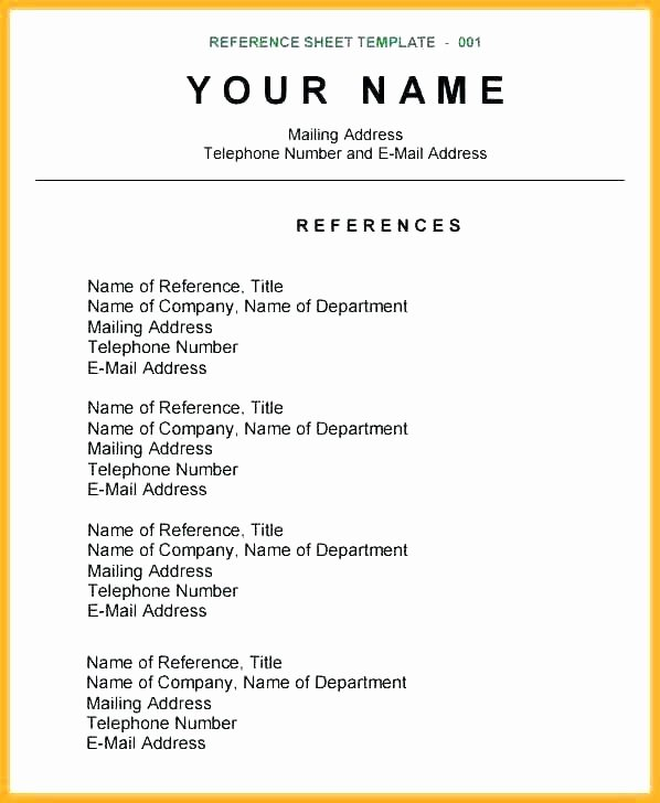 References Template Google Docs Awesome Resume References Template Google Docs Bikesunshine