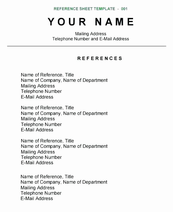 References Template Google Docs Luxury Reference Template Google Docs