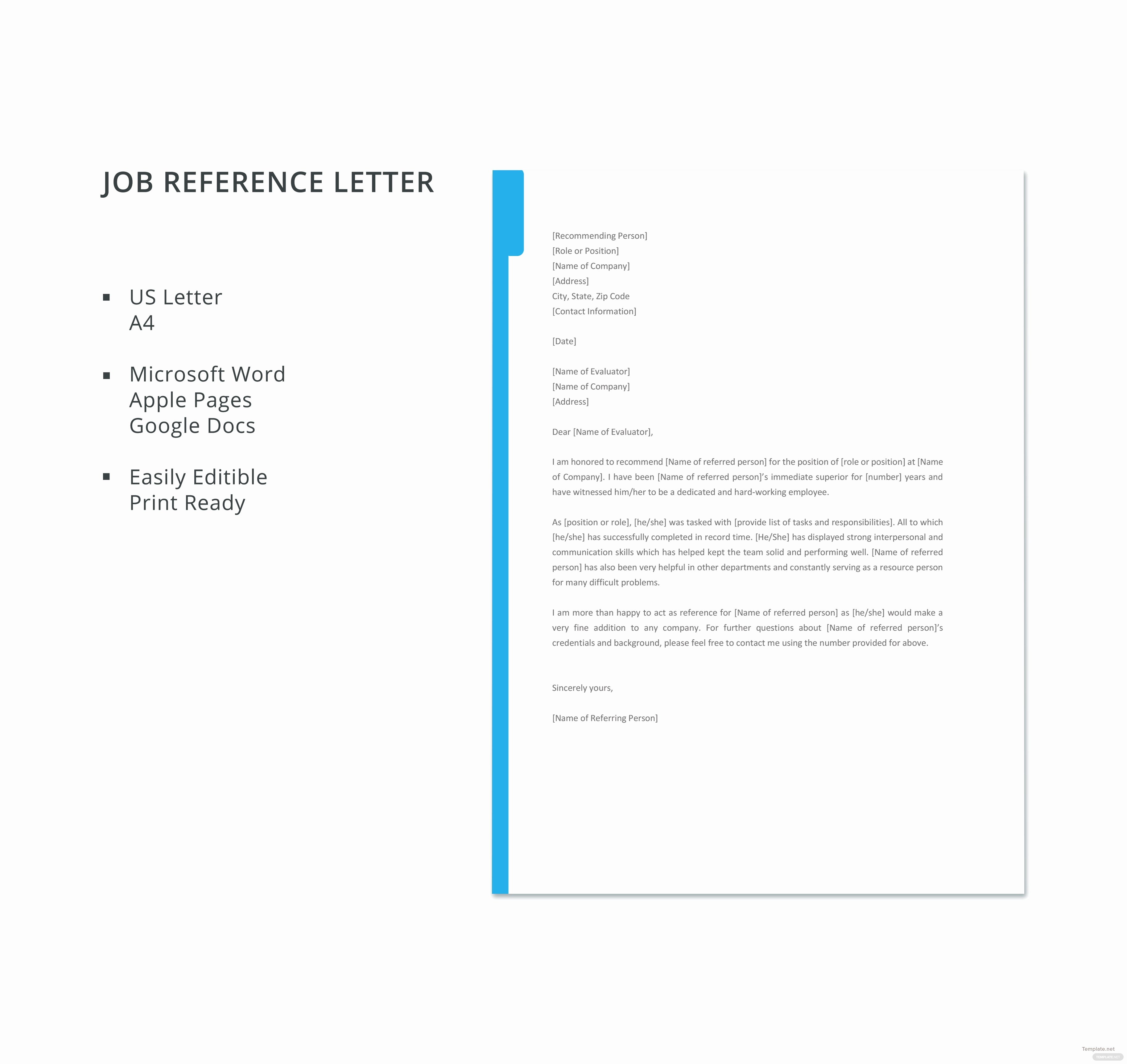 References Template Google Docs New Free Job Reference Letter Template In Microsoft Word