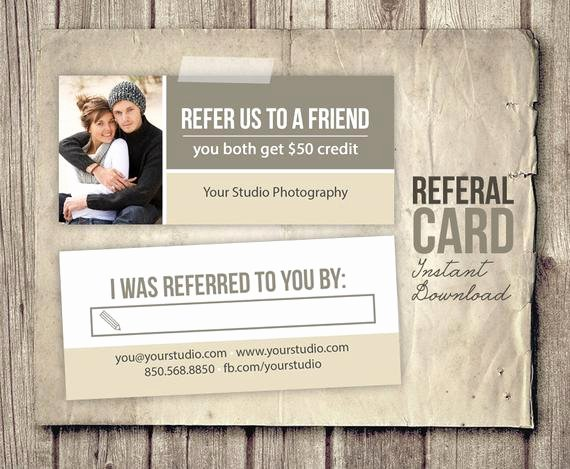 Referral Card Template Free Beautiful Graphy Referral Card Template Rep Card Referral