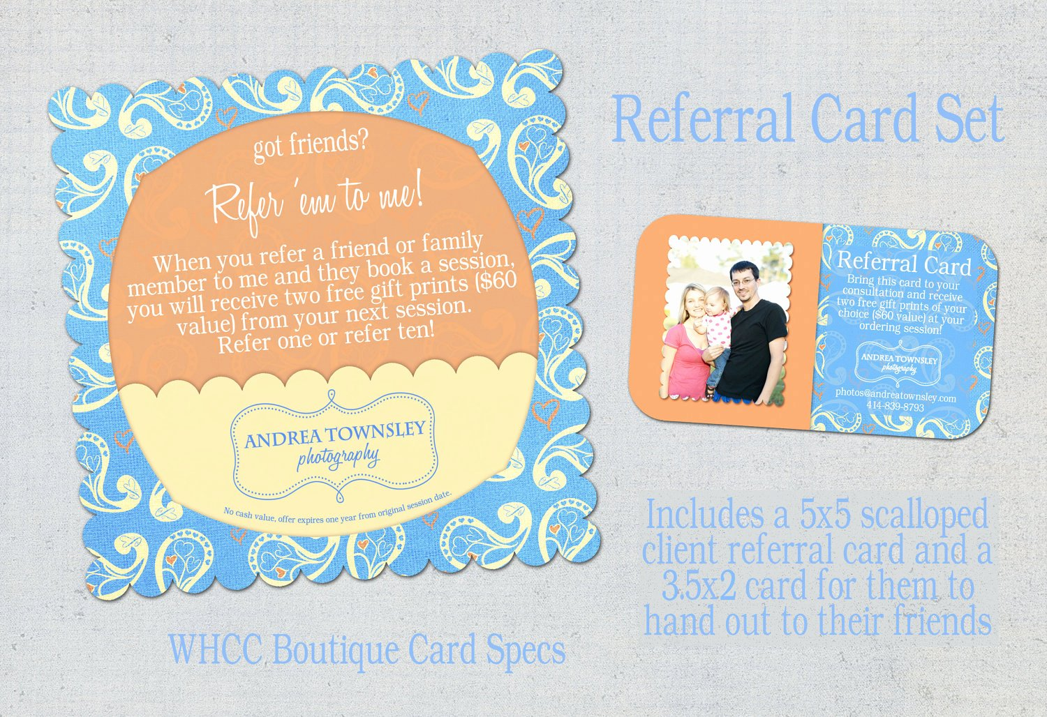 Referral Card Template Free Best Of Items Similar to Referral Card Set Template Blue and