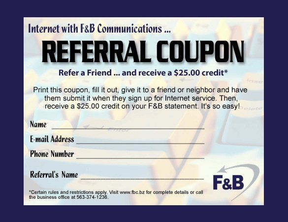 Referral Card Template Free Fresh Referral Coupon Templates – 17 Free Psd Ai Vector Pdf