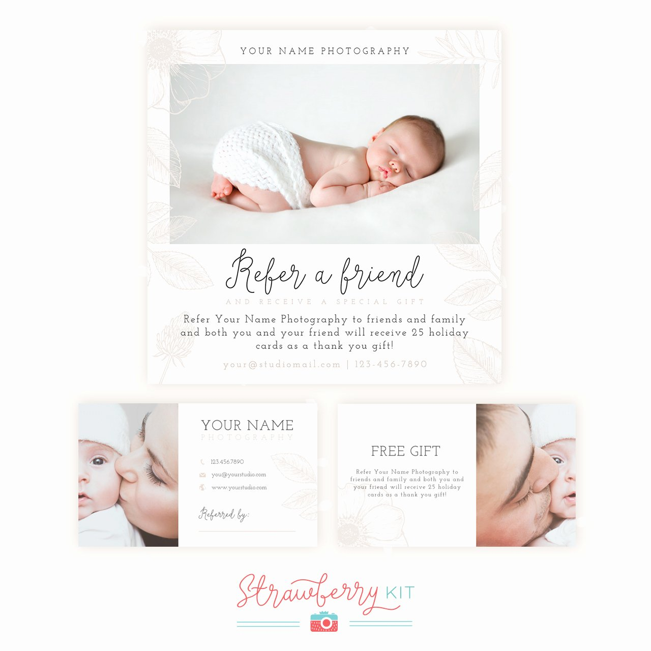 Referral Card Template Free Inspirational Refer A Friend Graphy Template