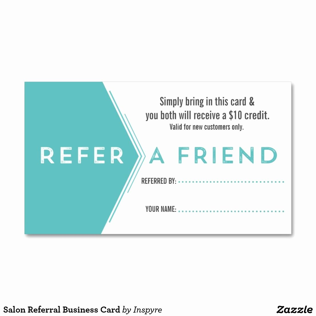 Referral Card Template Free Inspirational Salon Referral Business Card Zazzle
