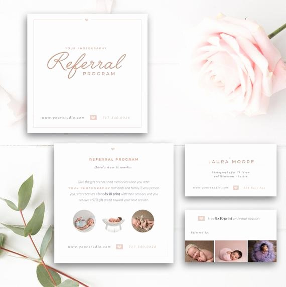 Referral Card Template Free Lovely Graphy Referral Card Shop Template Referral